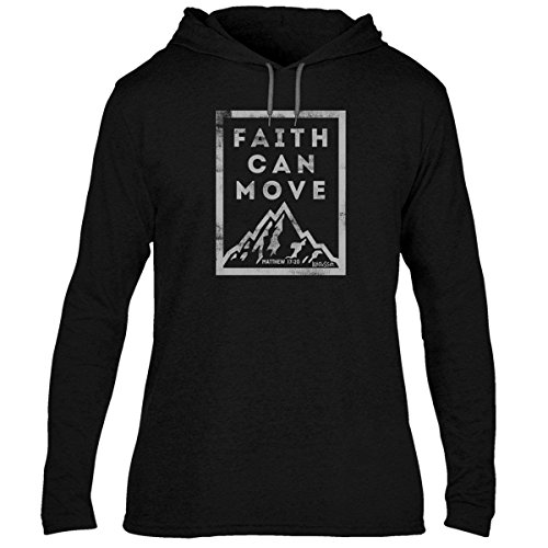 Faith Can Move Adult Hooded Tee LG - Christian Fashion Gifts