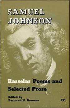 Samuel Johnson: Rasselas Poems and Selected Prose: Sameul ...
