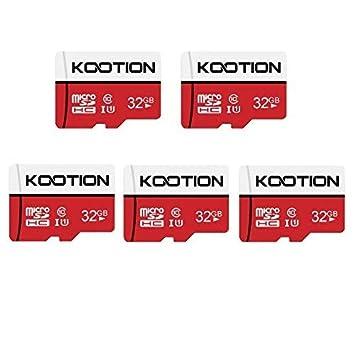 KOOTION Micro SD 32GB Clase 10 Tarjeta Memoria Micro SDHC Tarjeta MicroSD(U1 y A1) TF Tarjeta, Alta Velocidad de Lectura hasta 100 MB/s, para ...