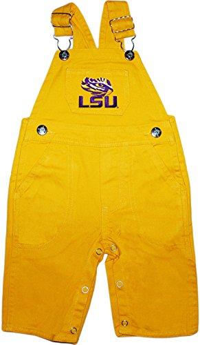 (Louisiana State University LSU Tigers Baby Overalls Gold)