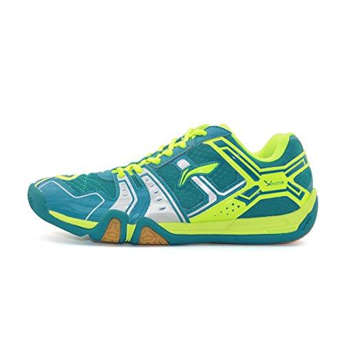 LI-NING Men's Saga TD Professional Badminton Sports Shoes Blue/Green/Silver buy cheap in China clearance explore free shipping pick a best cheap sale best sale 9NL7bU0
