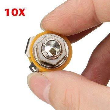 Musical Instruments Pro Audio Equipment Parts - 10 X 6.35mm TRS Microphone Audio Panel Seat 2 CH Stereo Female ()