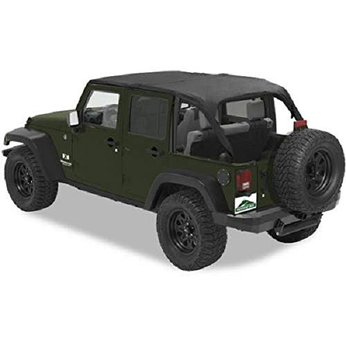 Pavement Ends by Bestop 41526-35 Black Diamond Sun Cap Plus for 2007-2017 Wrangler JK Unlimited ()