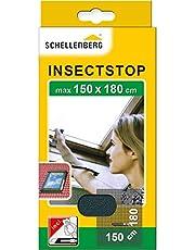 Schellenberg 50329 horrengaas voor dakramen met ritssluiting, 150 x 180 cm, antraciet