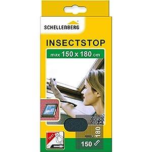 41jh9kJkkLL. SS300 Schellenberg 50328 Fliegengitter für Dachfenster mit Reißverschluss, 150 x 180 cm, Weiß