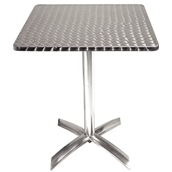 Bolero Square Flip Top Table Stainless Steel 720X600X600mm Restaurant Bar  Cafe By Bolero
