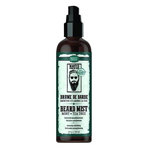 Smooth Groom Mint & Tea Tree Beard Mist - Instantly Refreshing + Noticeably Strengthening for Beard Types 4oz / -