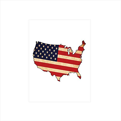 - Decorative Privacy Window Film/Retro Toned States Flag Figure Vivid Vintage Old Fashion National Design/No-Glue Self Static Cling for Home Bedroom Bathroom Kitchen Office Decor Sand Brown Indigo Red