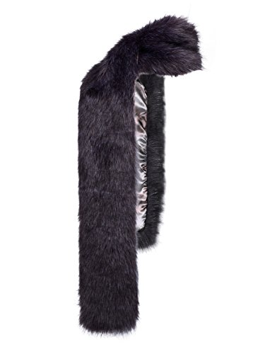 - LITHER Men Women Winter Warm Faux Fox Raccoon Fur Collar Stole Long Scarf Shawl(70 inches long)