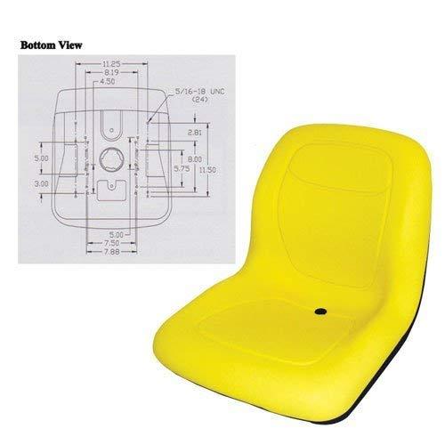 Bucket Seat Vinyl Yellow John Deere 125 488 890 4310 8875 2210 4300 4600 855 955 4710 4510 856 7775 4200 4210 4610 240 755 655 655 70 756 4410 4700 4500 4105 4400 Komatsu Caterpillar 226 216B 246 242
