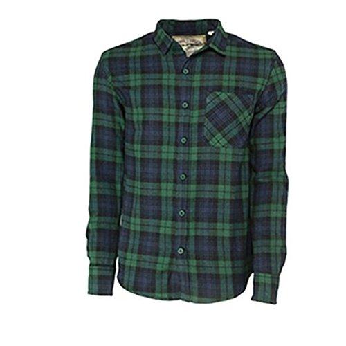 SoulStar Herren Freizeit-Hemd grün grün