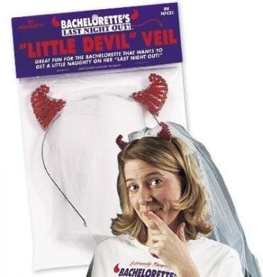 Bachelorette Little Devil Veil ( 6 Pack ) by Multiple