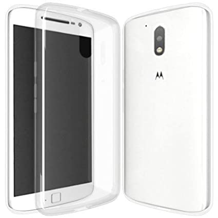 promo code 2bf04 955df Shop Buzz Transparent Back Cover For Motorola G4 Plus - TPU Silicon Back  for Moto G 4th Generation