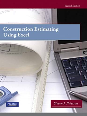 construction estimating using excel 2nd edition steven j rh amazon com Construction Estimating Books Construction Estimate Sample