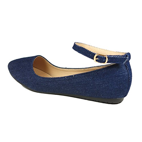 Nova Utopia Womens Mary Jane Style Ballet Flats As - Bluecvs
