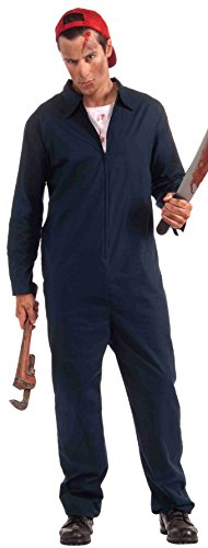 Forum Novelties Men's Deranged Mechanic Halloween Costume, Navy, Plus