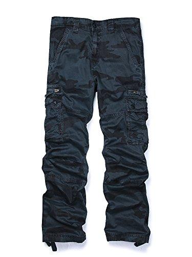 Men's Outdoor Woodland Military Cargo Pant Camo #E Size 34