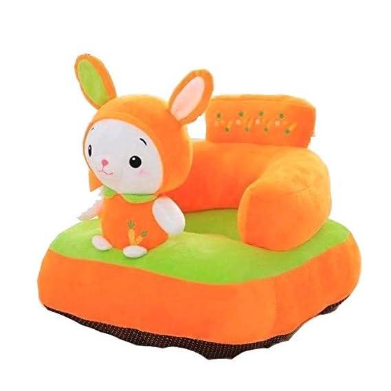 TIB Rabbit Shape Soft Plush Cushion Sofa Seat or Rocking Chair for Kids (Orange, 0 to 4 Years)