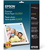 Epson Premium Photo Paper GLOSSY (8x10 Inches, 20 Sheets) (S041465)
