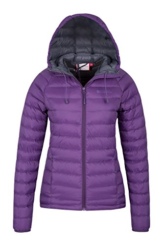 Camping for in with Horizon Cold Hydrophobic Jacket Weather Coat Hood Resistant Down Jacket Water Mountain Purple Ladies Ideal Warehouse Womens Winter Ripstop YgqUn4wxTa