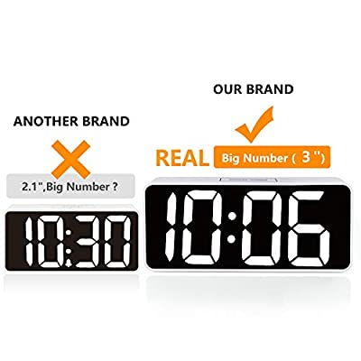 "9"" Large LED Digital Alarm Clock"
