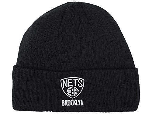 adidas Brooklyn Nets Black Cuff Beanie Hat - NBA New Jersey Cuffed Winter Knit Cap