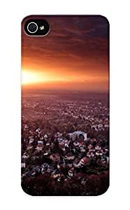 New Fashionable Exultantor Gyjhzo-2502-jbyswfj Cover Case Specially Made For Iphone 5/5s(sun Cityscapes )