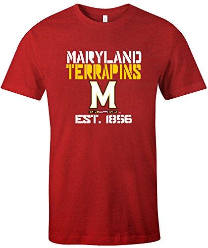 NCAA Maryland Terrapins Est Stack Jersey Short Sleeve T-Shirt, Red,X-Large