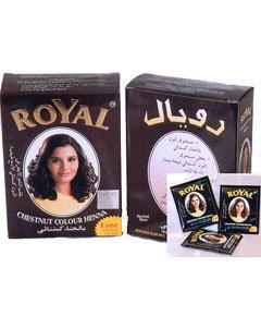 Herbal Base Powder Dye - Chestnut Colour Henna - 60g Topline Exim INC