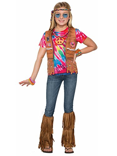 Forum Novelties Kids Hippie Costume, Multicolor, (Kids Hippie)