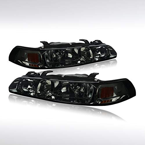 Autozensation For Acura Integra Pair Smoke Headlights+Corner Signal+Built-in Fog Lamps
