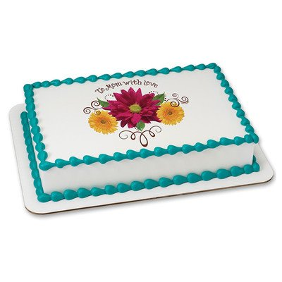 Mothers Day Edible Icing Image for 8 inch round cake