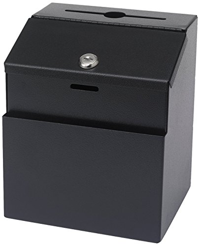 - Safco Products 4232BL Steel Suggestion Box, Black