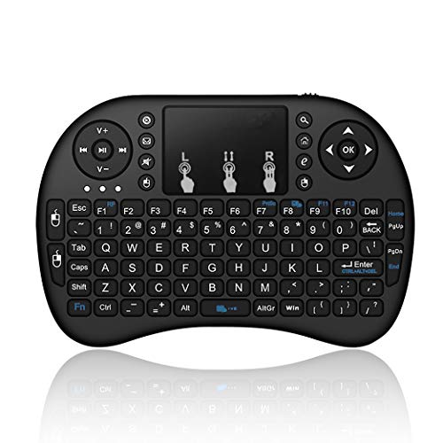 Mini Wireless Keyboard with Touchpad, 2.4Ghz Wireless Mini Handheld Remote Control Keyboard with Rechargeable Battery by Gecen Compatible with , Smart TV, Xbox, HTPC, PS3,etc.