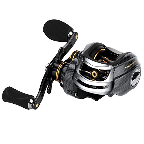 Fishdrops Korean Technology LB200 Baitcasting Reel 18 Ball Bearings Carp Fishing Gear Left Right Hand Bait Casting Fishing low-profile (Right Hand) ()