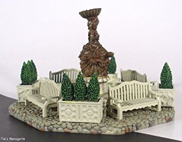 - Department 56 Seasons Bay Garden Fountain Set of 9 Christmas Village Accessories 53330