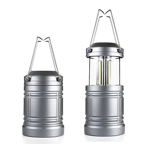 2Pcs Camping Lantern Military TacLight Lantern with Magnetic Base & Collapsible Ultra Bright Portable LED Torch by...
