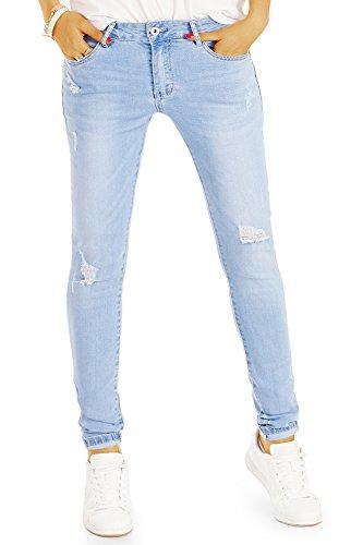 BestyledBerlin Jeans pour femme, jean slim fit j74i Bleu
