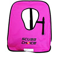 Scuba Choice Adult Snorkel Vest with Name Box, Large, Purple/Hot Pink