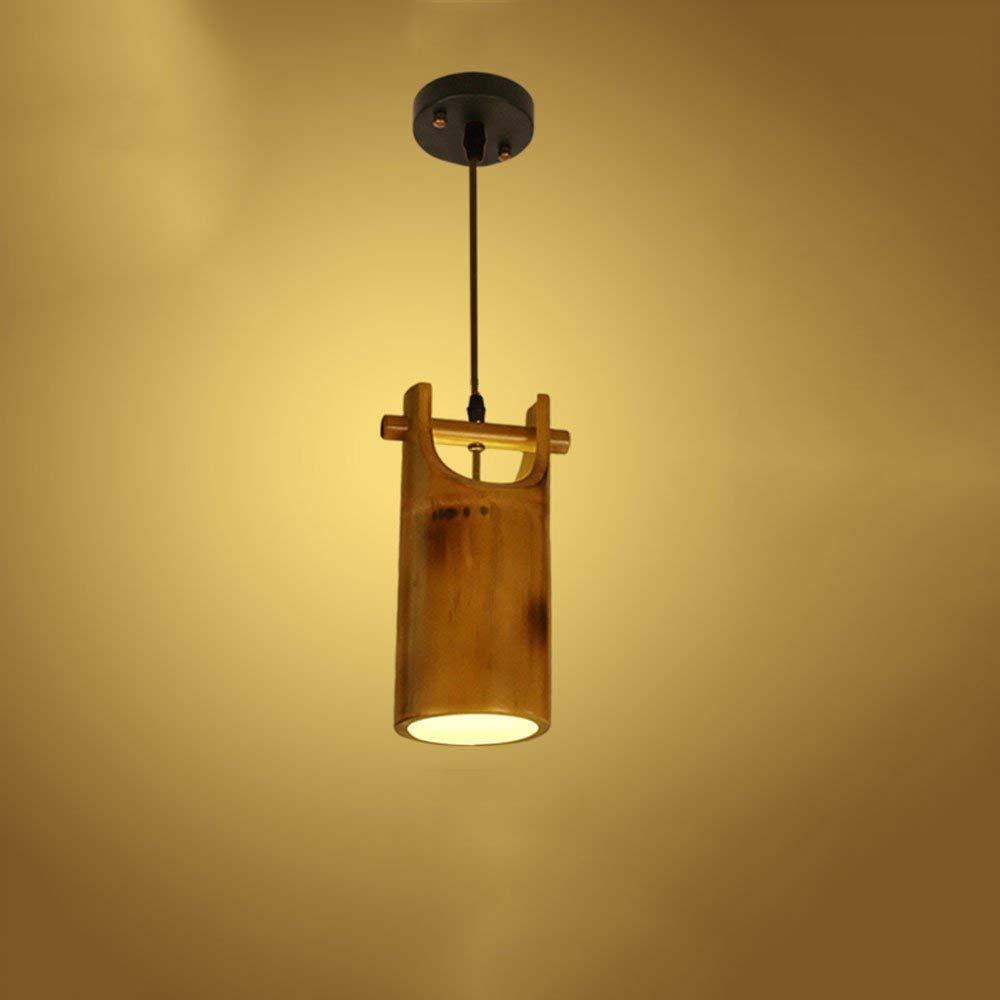 CY  Vintage Single Head Bambus Deckenpendelleuchte Landhausstil Antikes Restaurant Bambus Deckenleuchte für Schlafzimmer Wohnzimmer Dessert Shop Bar Cafe Kronleuchter Pendelleuchte E27