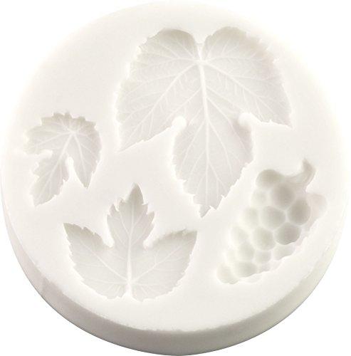 Grape & Vine Leaves Silicone Mold   Non-stick food grade mold, fondant mold, candy mold, resin mold, fimo mold, clay mold, soapmaking mold