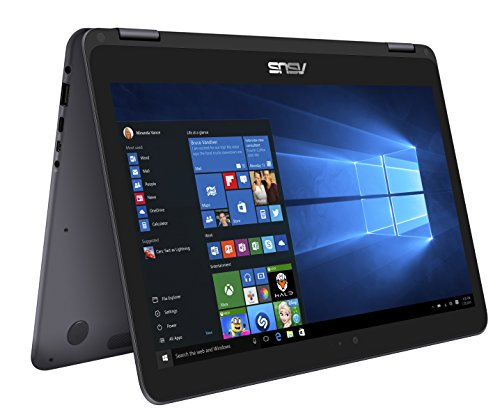 2017 ASUS ZenBook Flip 2-in-1 13.3-Inch Full HD Touchscreen Premium High Performance Laptop PC, Intel Core m3-7Y30 Processor, 8GB RAM, 256GB SSD, Bluetooth, HDMI, Windows 10, Gray