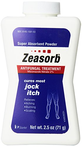 Zeasorb Antifungal Treatment Powder, Jock Itch 2.5 Oz (3 Pack) ()