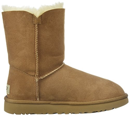 Violet Poppy UGG Bailey Boots Grey Chestnut Button x6qxXA8pw