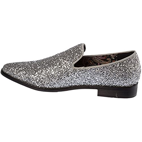 Sparko04 Mens Slip On Fashion Loafer Sparkling Glitter Dress Shoes