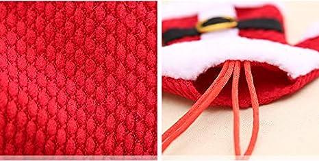 8 Piezas Bolsa Cubiertos Navidad Linda (Cuchillo Tenedor Cuchara) Forma de Traje de Papá Noel (4 Chaquetas 4 Pantalones) - para la Fiesta de Navidad más ...