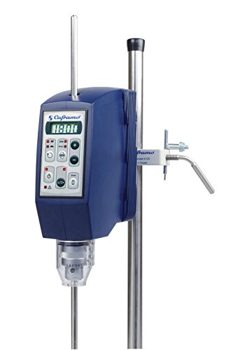 (CAFRAMO LIMITED BDC1850 Model BDC1850 Ultra Torque Overhead Stirrer, Speed Range 12-1800 RPM, Digital, Mixes Tars, Gravel, Polymers, Adhesives)