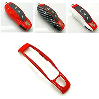 Side Cap Casing Shell Cover Case Decal for Porsche Boxster Turbo Cayenne Panamera Macan Cayman 911 918 996 997 991 Chrome Red Smart Key Middle