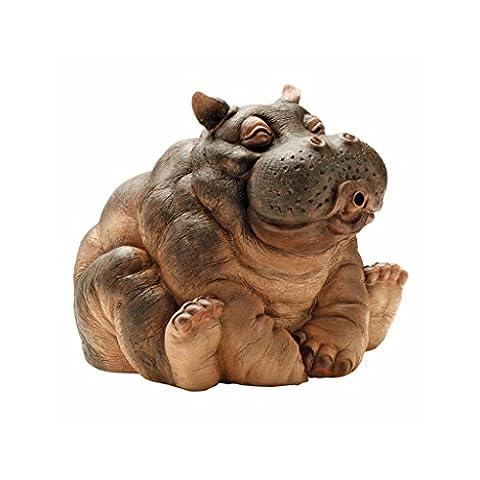 Design Toscano Hanna The Hippo Spitter Piped Statue - Stone Copper Fountain