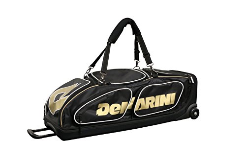 DeMarini Special Ops Baseball Softball Fastpitch Wheeled Roller Bag (Iconic Black Gold)